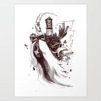 El Monstroca Art Print