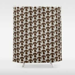 Chocolate Dachshund | Cute Cartoon Wiener Dog Shower Curtain