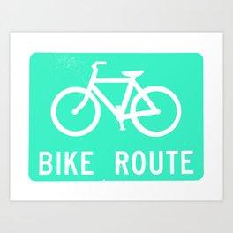 Bike Route Art Print