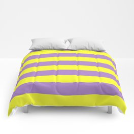 purple and yellow stripes Comforters