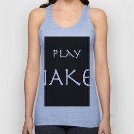 Play naked white on black. Unisex Tank Top