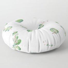 Eucalyptus Pattern Watercolor  Floor Pillow