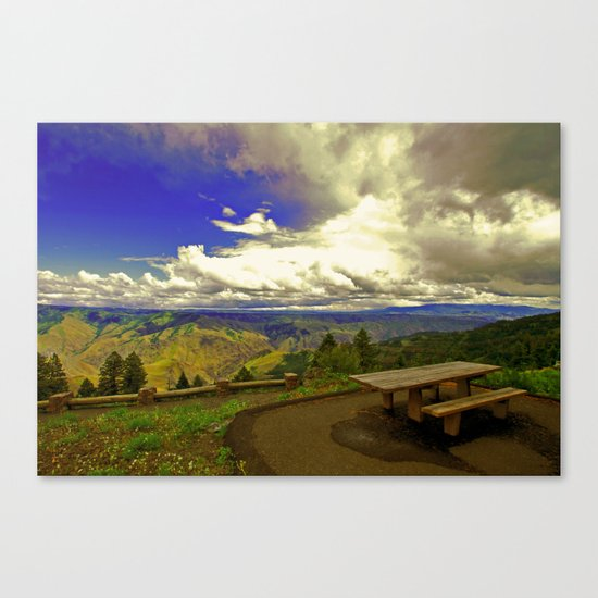 Table with a View Canvas Print