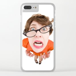 Stressed Out Fisheye Geek Clear iPhone Case