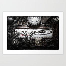 Packard  Straight 8 Engine Art Print