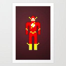 PixelWorld vol. 1   Flash  Art Print