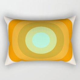 Slammin' - retro vibes 1970s style throwback bullseye circle infinity 70's Rectangular Pillow