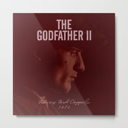 The Godfather, Part II, Robert De Niro, Francis Ford Coppola, alternative movie poster, cult film Metal Print