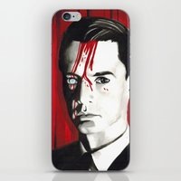 dale cooper iPhone & iPod Skins featuring Agent Dale Cooper by Narnia Tattoos