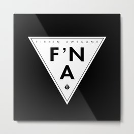 F'NA Logo Metal Print