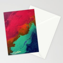 macaw feathers Stationery Cards