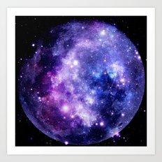 Galaxy Planet Art Print