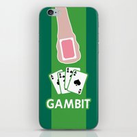 poker iPhone & iPod Skins featuring Poker Face by Remix Comix