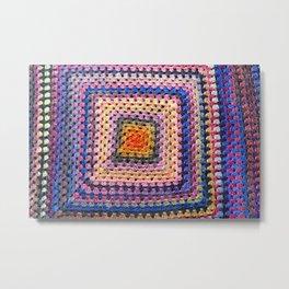Crochet  Grannysquare#1 Metal Print