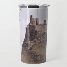 postcard from lindisfarne castle... Travel Mug