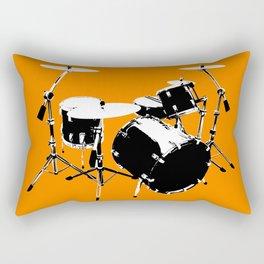 Drumkit Silhouette (frontview) Rectangular Pillow