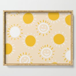 happy sunshine Serving Tray
