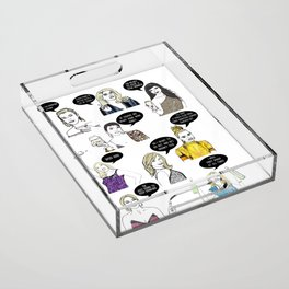 Real Housewives Drinking Acrylic Tray