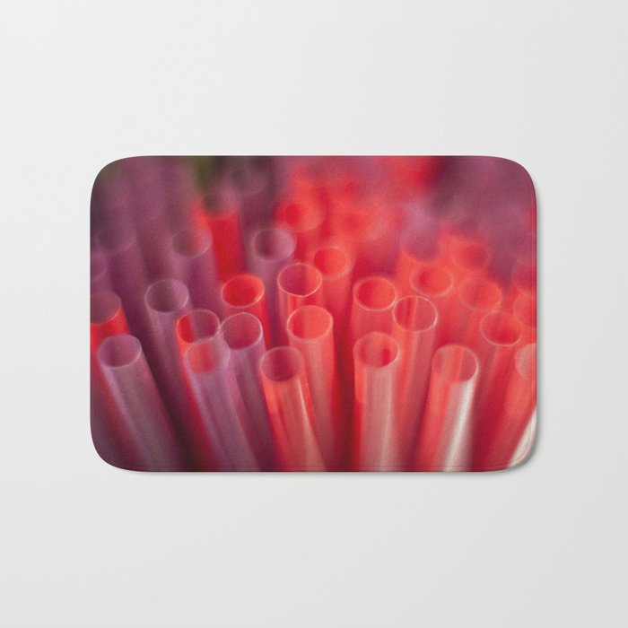 Colorful Straws Bath Mat