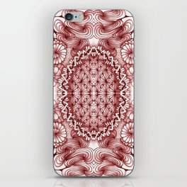 Burgundy Zentangle Tile Doodle Design iPhone Skin