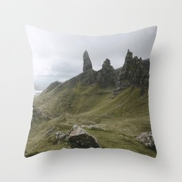The Old Man of Storr - Landscape Photography Throw Pillow