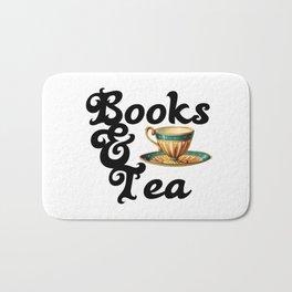 Books and Tea Bath Mat