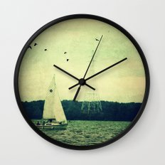 Come Sail Away Wall Clock