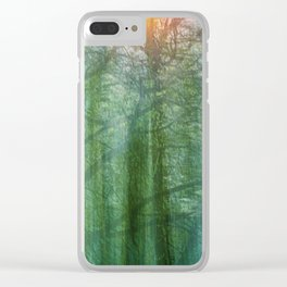 forest morning dream Clear iPhone Case