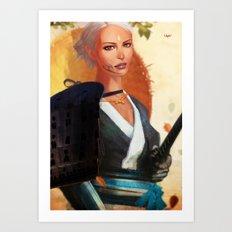Samurai Den II Art Print