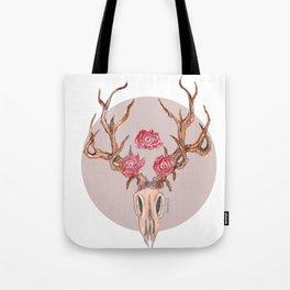 Deer Skull WaterColor Tote Bag