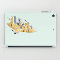 spaceship iPad Cases featuring SPACESHIP by Sharon Sordo