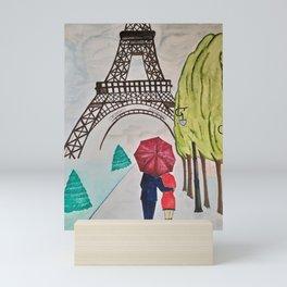 under my umbrella Mini Art Print