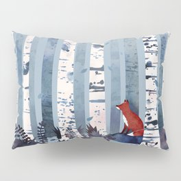 The Birches (in Blue) Pillow Sham