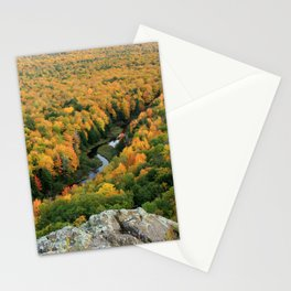 Autumn Colors at the Carp River Valley, Porcupine Mountains State Park, Upper Peninsula, MI Stationery Cards
