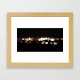 IMOLA BY NIGHT IF YOU WERE MYOPIC LIKE ME. Framed Art Print