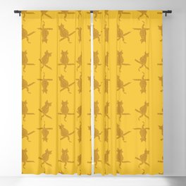Funny Fall Cats Pattern Blackout Curtain