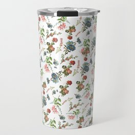 Antique Floral Pattern Travel Mug