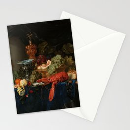 Vintage Still Life Painting with Lobster Stationery Cards