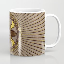 Seal of Shamash - Wood burned with gold accents Coffee Mug