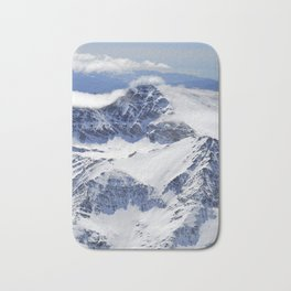 """Big mountains"". Aerial photography Bath Mat"