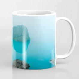 Mysterious aqua mountain lake, Italy Coffee Mug