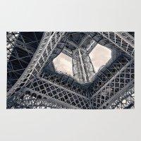 eiffel Area & Throw Rugs featuring Eiffel Steel by Ewan Arnolda