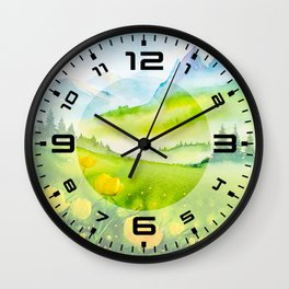 Spring scenery #5 Wall Clock