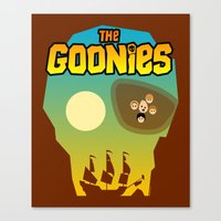 goonies Canvas Prints featuring The Goonies by tuditees
