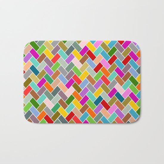 Colourful Tiled Mosaic Pattern Bath Mat