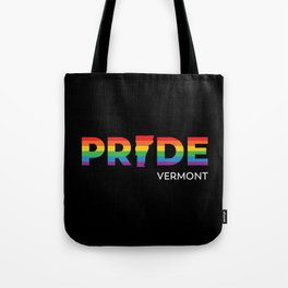 Vemont LGBTQ Pride (Black) Tote Bag