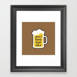 Beer - Great Minds Framed Art Print