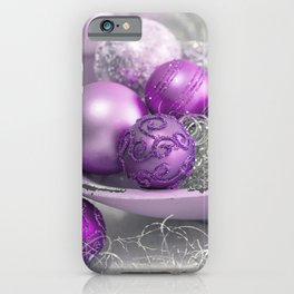Fancy pink christmas iPhone Case