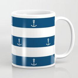 SAILORS ANCHOR STRIPES Coffee Mug