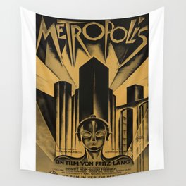 Metropolis, Fritz Lang, 19, vintage movie poster Wall Tapestry